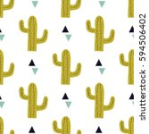 vector seamless pattern with... | Shutterstock .eps vector #594506402