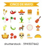 cinco de mayo celebration in... | Shutterstock .eps vector #594507662