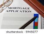 mortgage loan application form... | Shutterstock . vector #5945077
