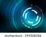 sci fi futuristic background.... | Shutterstock .eps vector #594508286
