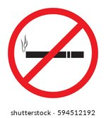no smok icon vector | Shutterstock .eps vector #594512192