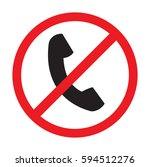 no telephone vector icon | Shutterstock .eps vector #594512276