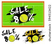 set banners sale 80 percent... | Shutterstock .eps vector #594513422