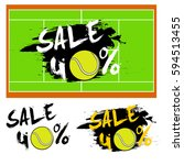 set banners sale 40 percent... | Shutterstock .eps vector #594513455