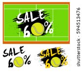 set banners sale 60 percent... | Shutterstock .eps vector #594513476