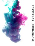 colors dropped into liquid and... | Shutterstock . vector #594516536