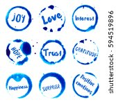 positive emotions collection of ... | Shutterstock .eps vector #594519896