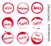 delicious collection of round... | Shutterstock .eps vector #594519965