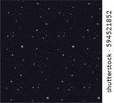 seamless pattern   star sky... | Shutterstock .eps vector #594521852