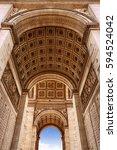 arc de triomphe in paris arch... | Shutterstock . vector #594524042