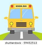 school bus on road | Shutterstock .eps vector #59452513