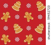 gingerbread cookies seamless... | Shutterstock .eps vector #59452723