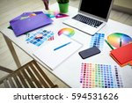 Workplace Of Designer With...
