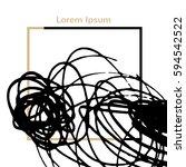 stroke black border. abstract... | Shutterstock .eps vector #594542522