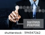 business man pointing hand on... | Shutterstock . vector #594547262