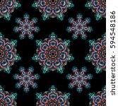 baroque vintage floral damask... | Shutterstock .eps vector #594548186