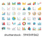 business data market elements...   Shutterstock . vector #594549362