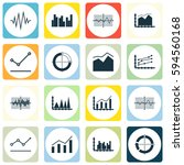 set of graphs  diagrams and... | Shutterstock .eps vector #594560168