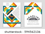 abstract vector layout... | Shutterstock .eps vector #594562136