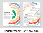 abstract vector layout... | Shutterstock .eps vector #594562586