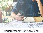 multichannel online banking... | Shutterstock . vector #594562928