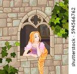illustration of beautiful... | Shutterstock .eps vector #594566762