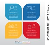 info graphic template for... | Shutterstock .eps vector #594574172