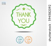 set of thank you sign  can be... | Shutterstock .eps vector #594582092