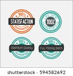 set of rubber stamps and labels.... | Shutterstock .eps vector #594582692