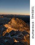 dolomite peaks in the moring.... | Shutterstock . vector #5945851