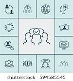 set of 12 business management... | Shutterstock . vector #594585545