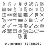 music icons set collection kit | Shutterstock .eps vector #594586052