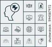 set of 12 business management... | Shutterstock . vector #594587972