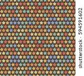 seamless star pattern. endless... | Shutterstock .eps vector #594591602