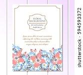 romantic invitation. wedding ... | Shutterstock . vector #594593372