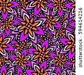 abstract seamless pattern | Shutterstock .eps vector #594614216