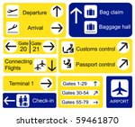 a selection of airport signs.... | Shutterstock .eps vector #59461870