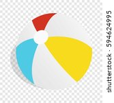 colorful ball isometric icon 3d ... | Shutterstock .eps vector #594624995