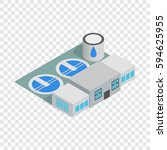 water treatment factory icon.... | Shutterstock .eps vector #594625955