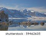 Winter Landscape Of Mono Lake...