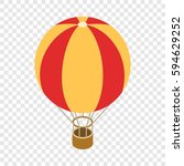 balloon isometric icon 3d on a... | Shutterstock .eps vector #594629252