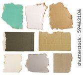 cardboard and  paper  parts... | Shutterstock . vector #59463106