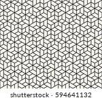 geometric tile grid graphic... | Shutterstock .eps vector #594641132