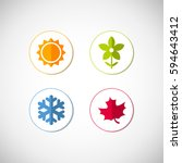 vector season icons. four... | Shutterstock .eps vector #594643412