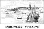 New York In 1673. Illustration...