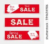 set of sale banners or website... | Shutterstock .eps vector #594654986