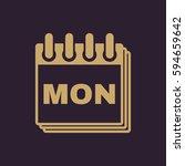 monday icon. mon and calendar ...