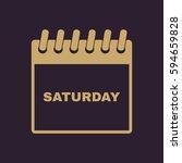 saturday icon. sat and calendar ...