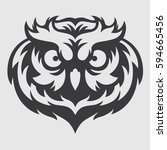 owl head mascot logo | Shutterstock .eps vector #594665456