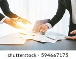image of two young businessmen... | Shutterstock . vector #594667175